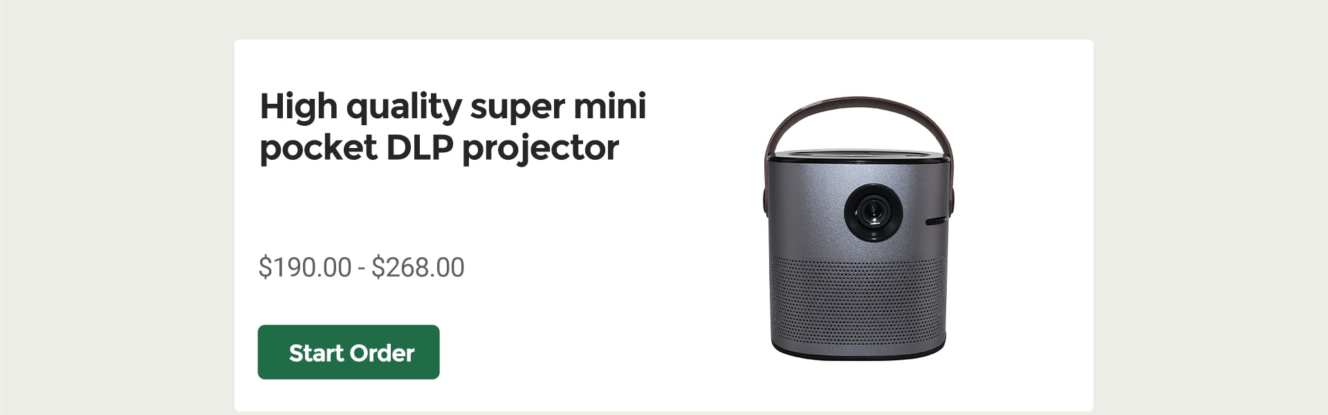 Imagine that DLP projector can put in your pocket